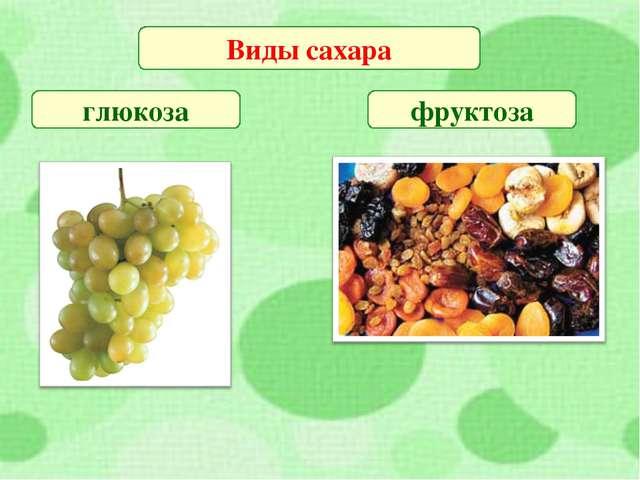 Виды сахара глюкоза фруктоза