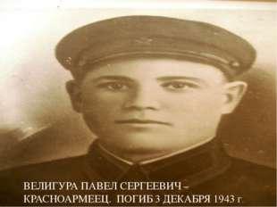 ВЕЛИГУРА ПАВЕЛ СЕРГЕЕВИЧ – КРАСНОАРМЕЕЦ. ПОГИБ 3 ДЕКАБРЯ 1943 г.