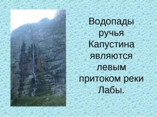 Водопады ручья Капустина являются левым притоком реки Лабы.
