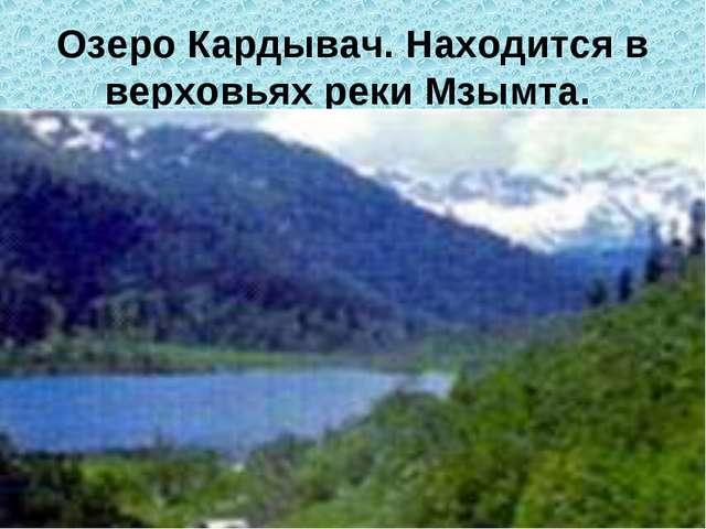 Озеро Кардывач. Находится в верховьях реки Мзымта.