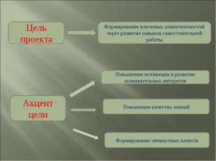 Цель проекта Формирование ключевых компетентностей через развитие навыков сам