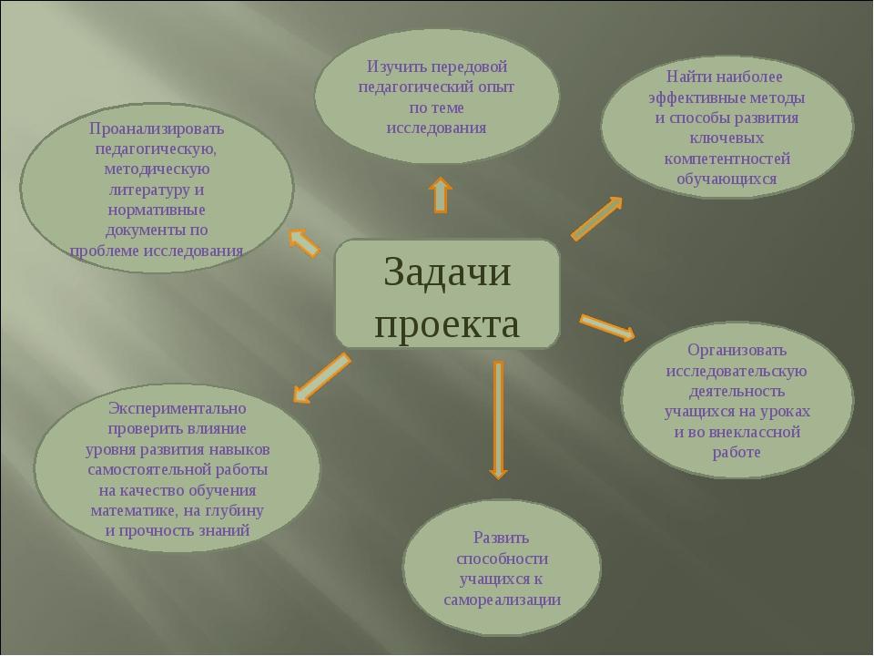 Задачи проекта Проанализировать педагогическую, методическую литературу и нор...