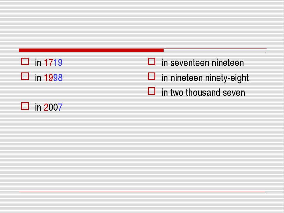in 1719 in 1998 in 2007 in seventeen nineteen in nineteen ninety-eight in two...