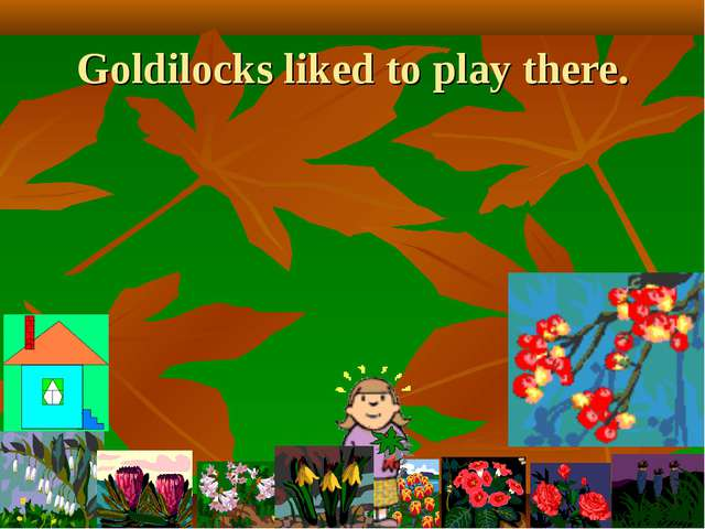 Goldilocks liked to play there.