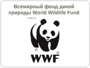 Всемирный фонд дикой природы World Wildlife Fund