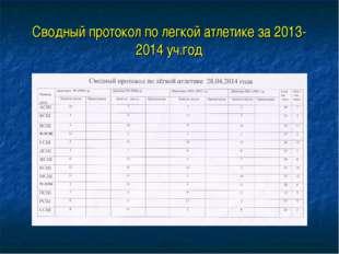 Сводный протокол по легкой атлетике за 2013-2014 уч.год