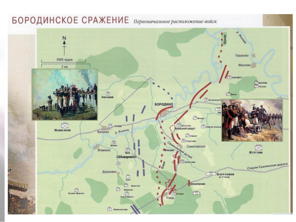 26 августа(7сентября)1812года Семёновское Большой редут Утицкий лес