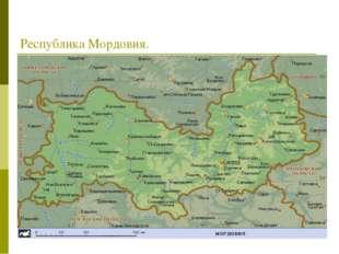 Республика Мордовия.