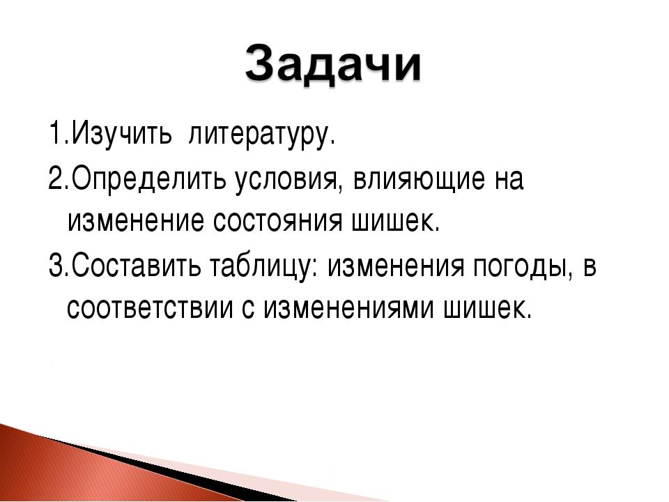 1.Изучить литературу. 2.Определить условия, влияющие на изменение состояния ш...