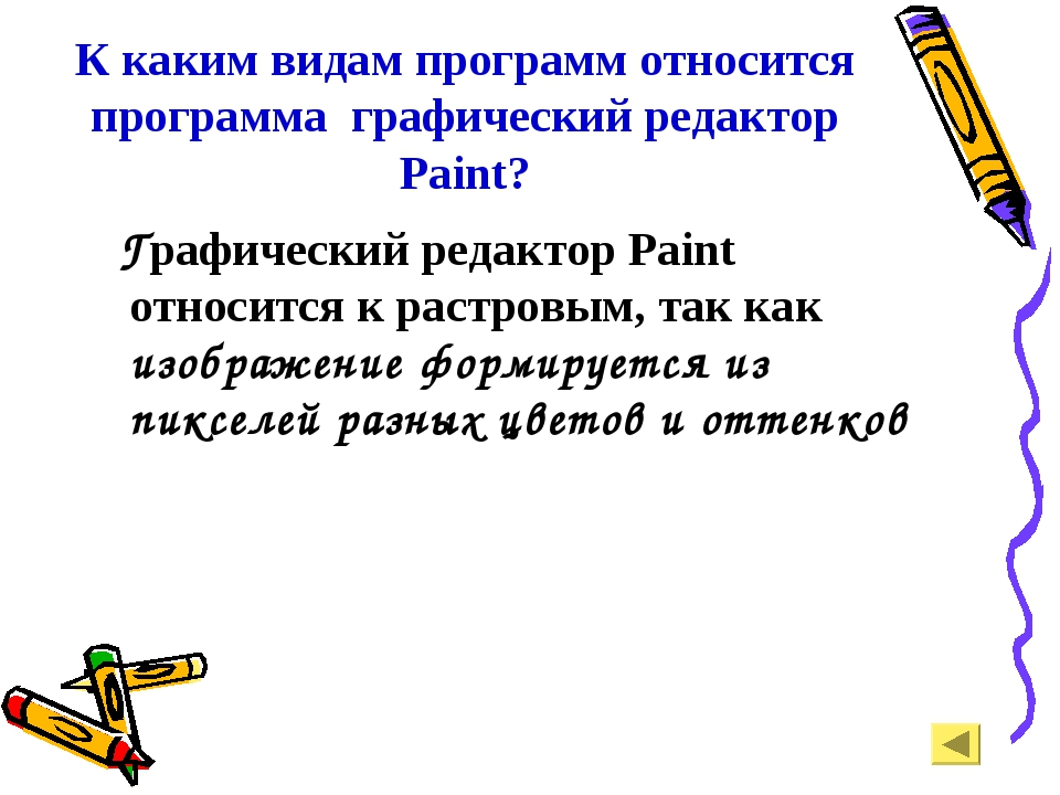 К каким видам программ относится программа графический редактор Paint? Графич...