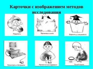 Карточки с изображением методов исследования