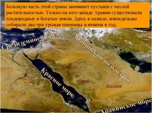 Родина арабов – Аравийский полуостров, или Аравия. Расположен в Юго-Западной