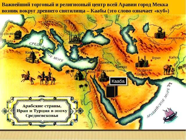 Важнейший торговый и религиозный центр всей Аравии город Мекка возник вокруг...