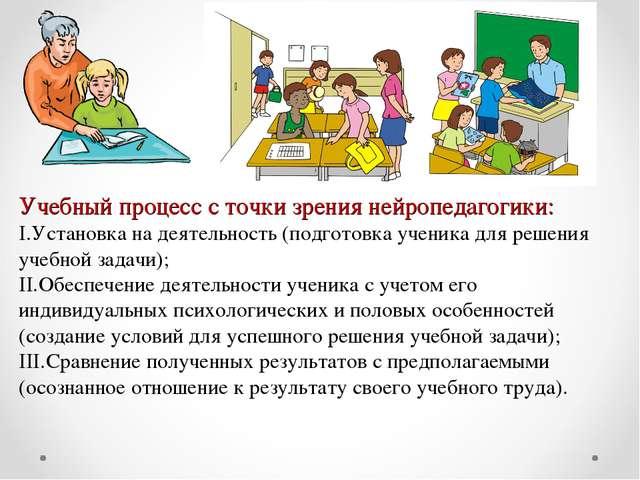Учебный процесс с точки зрения нейропедагогики: Установка на деятельность (по...