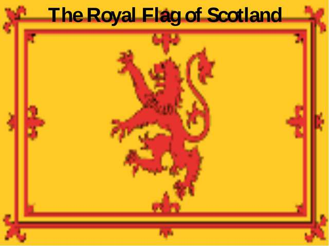 The Royal Flag of Scotland