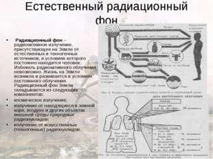 Естественный радиационный фон Радиационный фон – радиоактивное излучение, пр