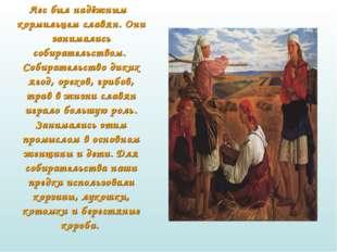 Лес был надёжным кормильцем славян. Они занимались собирательством. Собирате