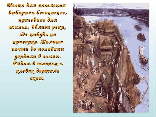Место для поселения выбирали безопасное, пригодное для жилья, вблизи реки, г...
