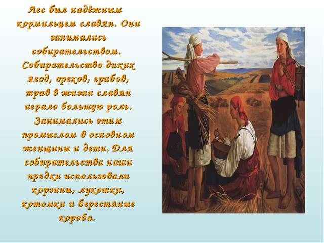 Лес был надёжным кормильцем славян. Они занимались собирательством. Собирате...