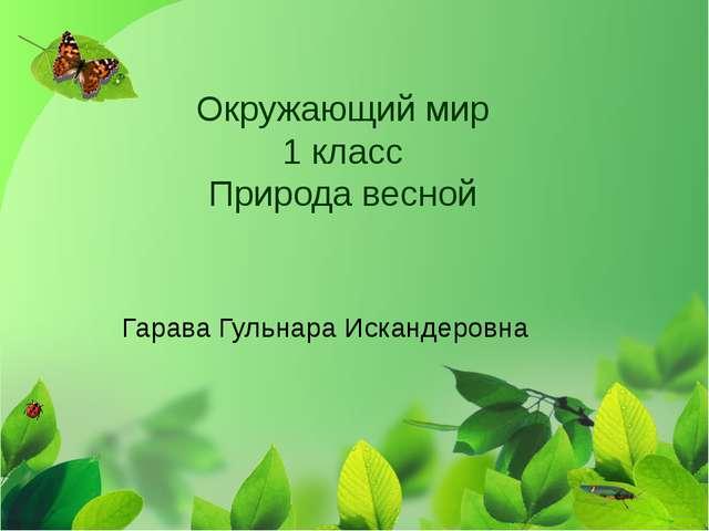 Окружающий мир 1 класс Природа весной Гарава Гульнара Искандеровна