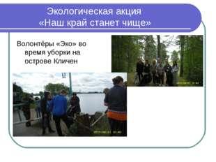 Экологическая акция «Наш край станет чище» Волонтёры «Эко» во время уборки н