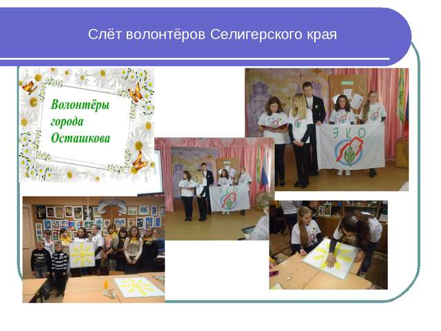 Слёт волонтёров Селигерского края