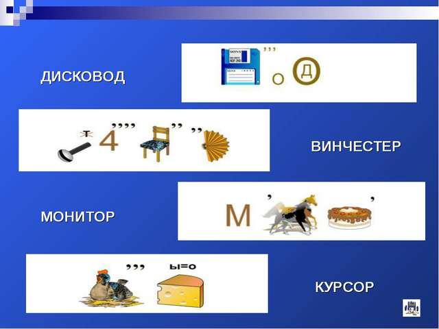 ДИСКОВОД ВИНЧЕСТЕР МОНИТОР КУРСОР ДИСКОВОД ВИНЧЕСТЕР МОНИТОР КУРСОР
