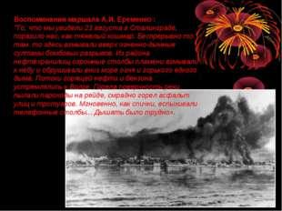 """Воспоминания маршала А.И. Еременко : """"То, что мы увидели 23 августа в Сталинг"""