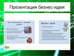 Презентация бизнес-идеи