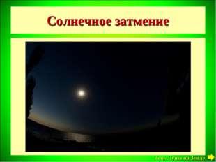 Солнечное затмение Луна Тень Луны на Земле