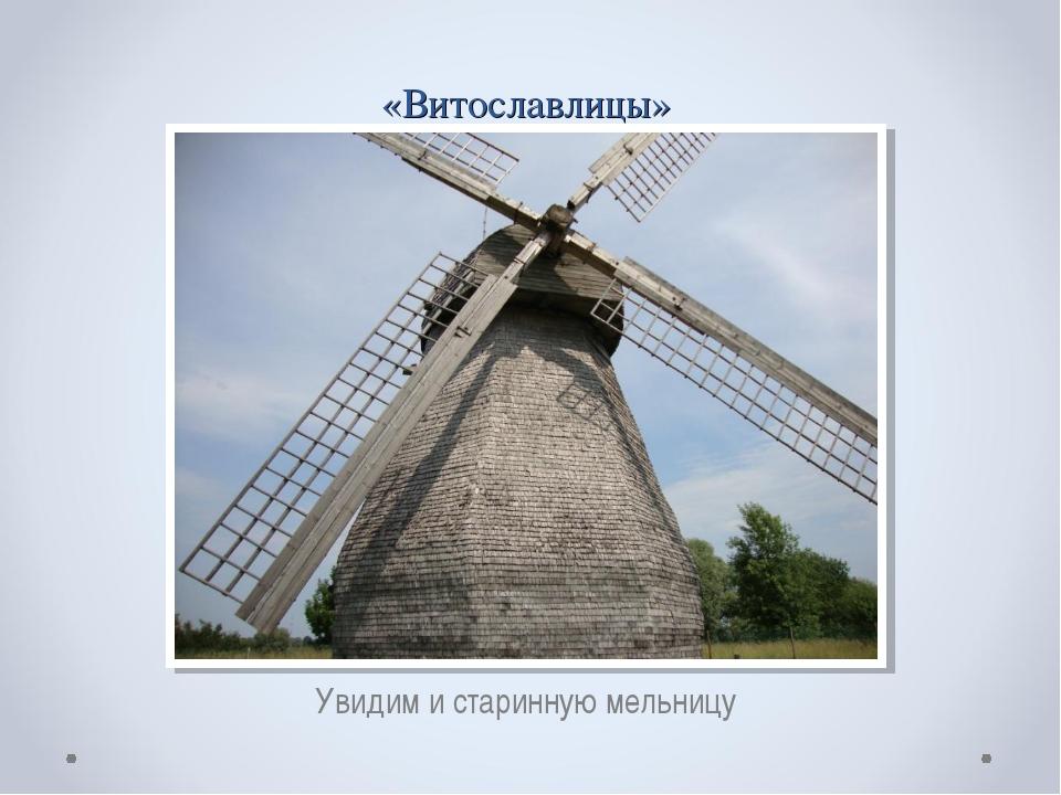 «Витославлицы» Увидим и старинную мельницу