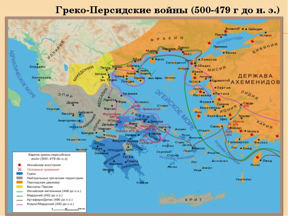 Греко-Персидские войны (500-479 г до н. э.)