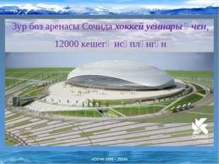 Зур боз аренасы Сочида хоккей уеннары өчен, 12000 кешегә исәпләнгән «СОЧИ 200