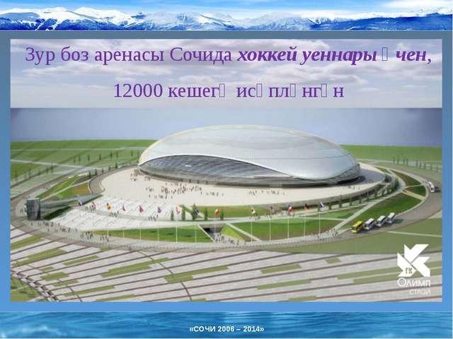 Зур боз аренасы Сочида хоккей уеннары өчен, 12000 кешегә исәпләнгән «СОЧИ 200...