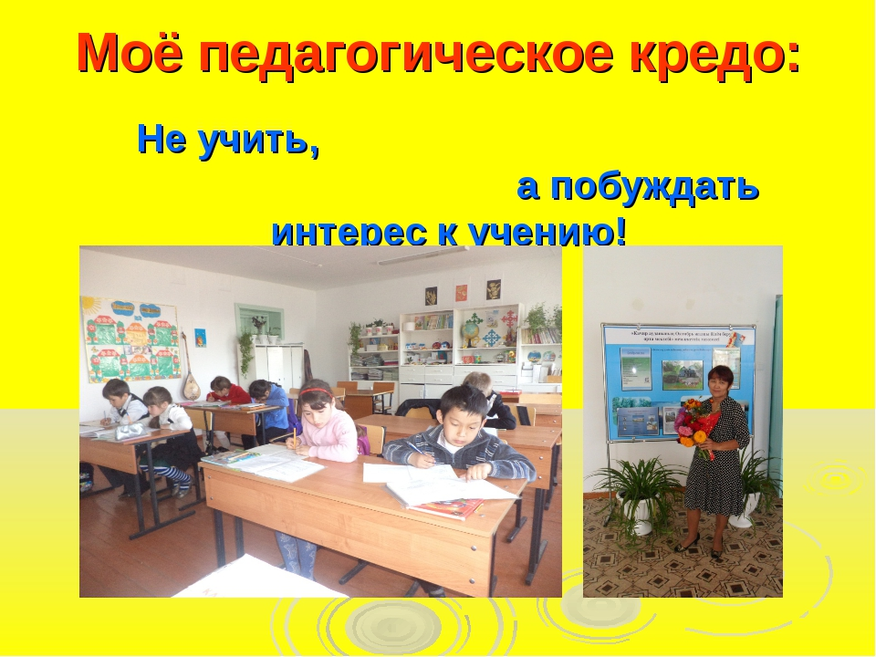 Моё педагогическое кредо: Не учить, а побуждать интерес к учению!