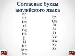 Согласные буквы английского языка