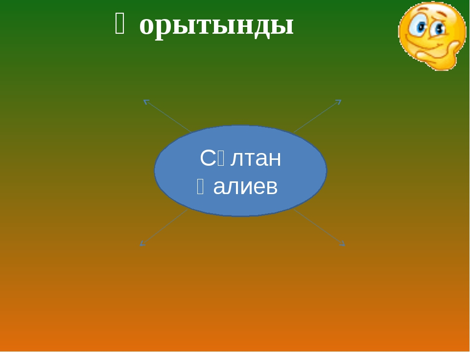 Қорытынды Сұлтан Қалиев
