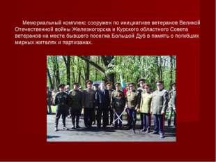 Мемориальный комплекс сооружен по инициативе ветеранов Великой Отечественной