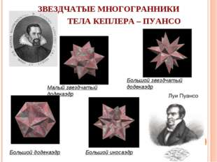 Малый звездчатый додекаэдр Большой звездчатый додекаэдр Большой икосаэдр Боль