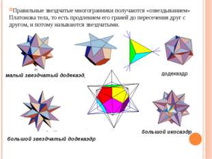 малый звездчатый додекаэдр большой звездчатый додекаэдр большой додекаэдр бол
