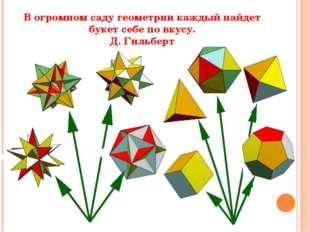 В огромном саду геометрии каждый найдет букет себе по вкусу. Д. Гильберт