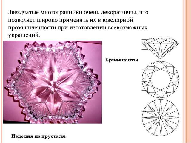 Изделия из хрусталя. Звездчатые многогранники очень декоративны, что позволяе...