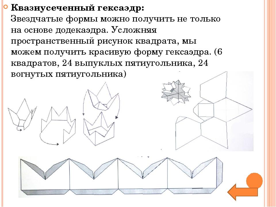 Квазиусеченный гексаэдр: Звездчатые формы можно получить не только на основе...
