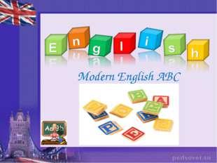 Modern English ABC