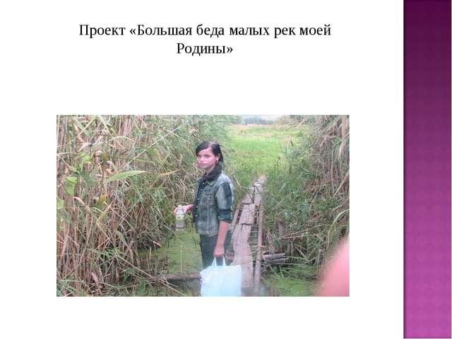 Проект «Большая беда малых рек моей Родины»