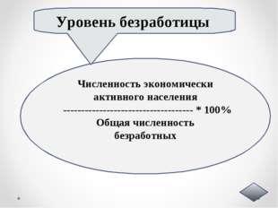Численность экономически активного населения --------------------------------