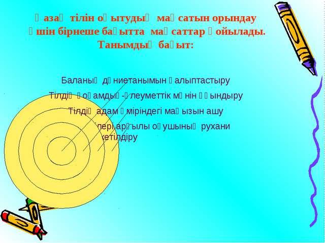 Қазақ тілін оқытудың мақсатын орындау үшін бірнеше бағытта мақсаттар қойылад...