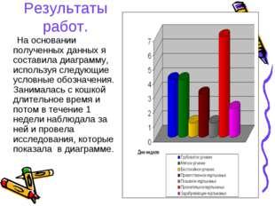 Результаты работ. На основании полученных данных я составила диаграмму, испол
