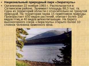 Национальный природный парк «Зюраткуль» Организован 22 ноября 1993 г. Распола