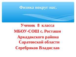 Ученик 8 класса МБОУ-СОШ с. Росташи Аркадакского района Саратовской области